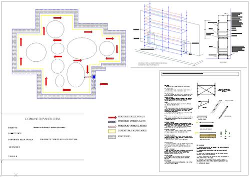 Elaborato tecnico delle coperture del Dammuso di Pantelleria